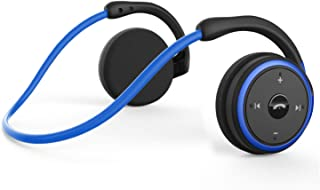Small Bluetooth Headphones Behind The Head, Sports Wireless Headset with Built in Microphone and Crystal-Clear Sound, Fold...