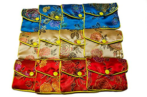 Gleader 12 x Jewellery Jewelry Silk Purse Pouch Gift Bag Bags HOT by Gleader