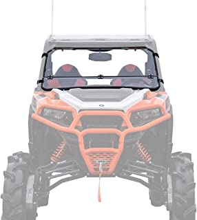 SuperATV Heavy Duty Flip Down/Folding 3-IN-1 Windshield for Polaris General 1000/1000 4 (2015+) - Clear Scratch Resistant (Hard Coated)