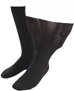 1 pares hombre diabeticos edema calcetines sin elasticos costuras para la circulacion