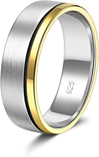 Kose Band Ring 925 Sterling Silver Round Engagement Anniversary Wedding Ring for Women