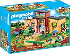 Take your pet for a relaxing stay at the tiny paws pet hotel Inside the front doors, The staff at the reception desk are ready to welcome your pet For even more fun, combine this set with the rest of the Playmobil pet hotel theme (#9375-9379 – sold s...