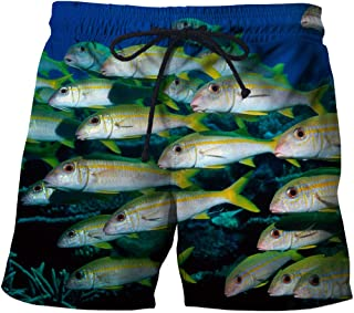 Men'S Clothing Beach Shorts 3D Fish Casual Printed Shorts