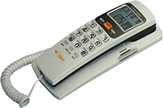 Vruta Landline Caller ID Phone Telephone Corded Phone for Office and Home Purpose Bfone Orientel KX-T555CID,Assorted Colour
