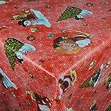 Wachstuch Wachstischdecke Tischdecke Gartentischdecke Weihnachten Zuckerstange Rot Breite & Länge wählbar 80 x 160 cm Eckig abwaschbar