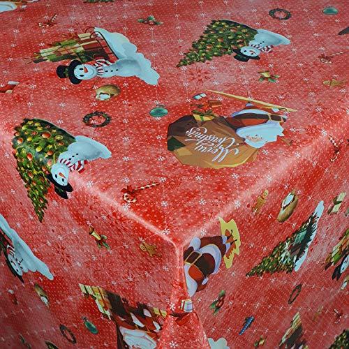 Wachstuch Wachstischdecke Tischdecke Gartentischdecke Weihnachten Zuckerstange Rot Breite & Länge wählbar 140 x 100 cm Eckig abwaschbar