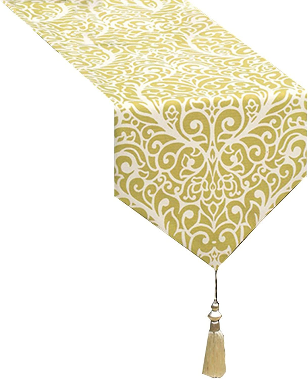 autorización YXX- Moda Simple Algodón Azul Mesa Mesa Mesa de Comedor Mesa de Centro de Mesa de Café zapatosbox TV Gabinete Lavadora Hotel Piano Mantel Cubierta Toalla (Color   Amarillo, Tamaño   32260cm)  marcas en línea venta barata