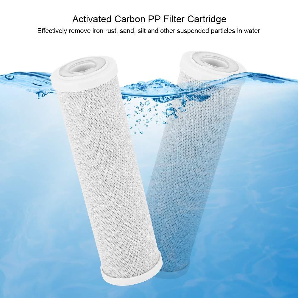 VIFERR Elemento Filtrante, PP de Carbono Cartucho de Filtro Purificador de Agua Accesorios de Filtración de Repuesto 10 Pulgadas Activados: Amazon.es: Hogar