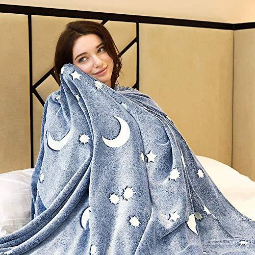 Manta de Lana, Manta de Felpa súper Suave, cálida y difusa, Ligera para Todas Las Estaciones, para Cama, sofá y sofá-150 * 200