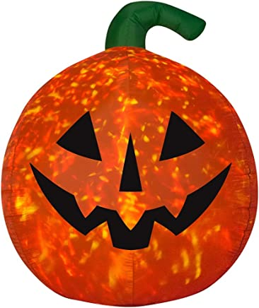 Halloween 6' LED Scary Pumpkin Kaleidoscope Airblown Gift Xmas