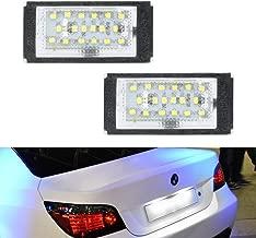 GemPro LED License Plate Light Lamp Assembly For 1998-2003 BMW E46 3 Series 323i 325i 328i 330i Sedan Pre-LCI, Powered by 18SMD Xenon White LED Lights
