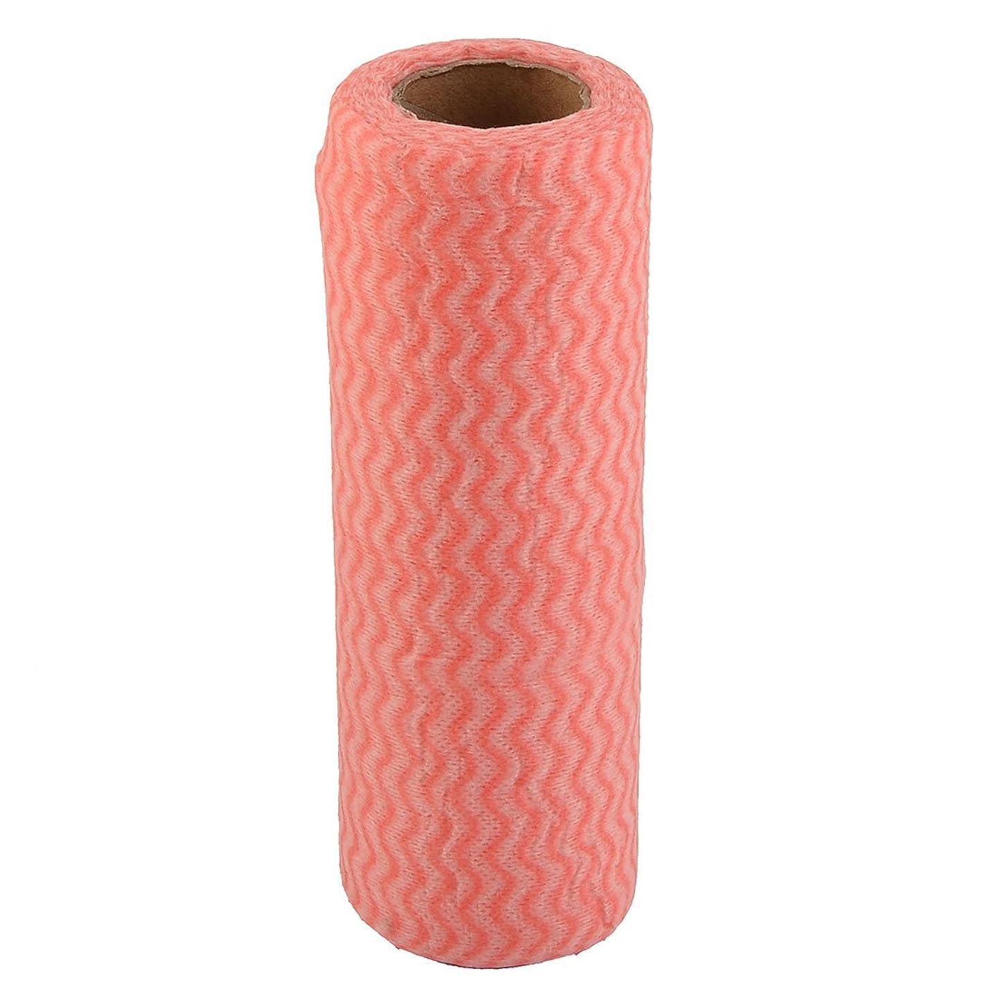 赤外線膜ダーリンuxcell クリーニングクロスロール 不織布ウェーブパターン ボウルポット食器洗浄可能 ピンク