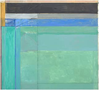 Ocean Park No. 68, 1974 by Richard Diebenkorn Art Poster Print, Overall Size: 11x14, Image Size: 9x10