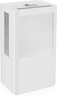 OPcFKV Portable Dehumidifier, Large Capacity, Compact Dehumidifier for Home, Bathroom, Kitchen, Bedroom, for Spaces Up to 4000 Cubic Feet, Continuous Drain Hose Outlet