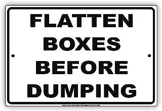 Bruyu5se Tin Sign, Metal Sign, Flatten Boxes Before Dumping Aluminum Metal Sign 8