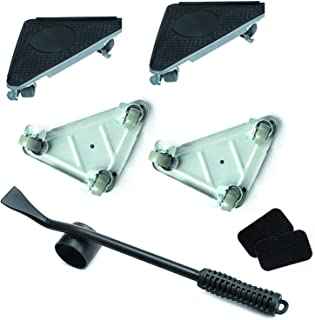 Sponsored Ad – Heavy Duty Furniture Lifter & 4 Pcs Triangle Furniture Slides Kit, Rubber Wheels 360° Rotatable Dolly with ...