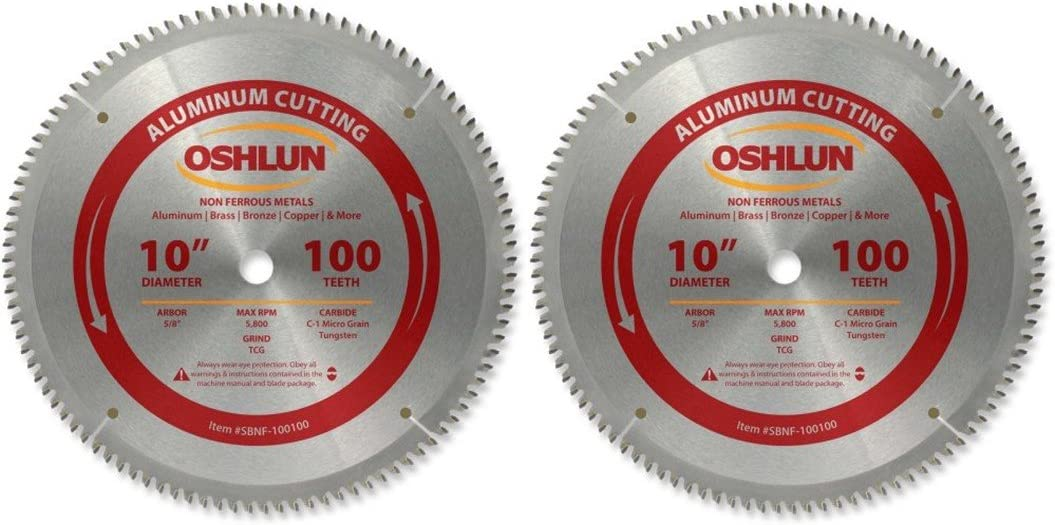Oshlun SBNF-100100 10-Inch 100 Tooth 評判 TCG Saw 5 8-Inch Blade スーパーセール with