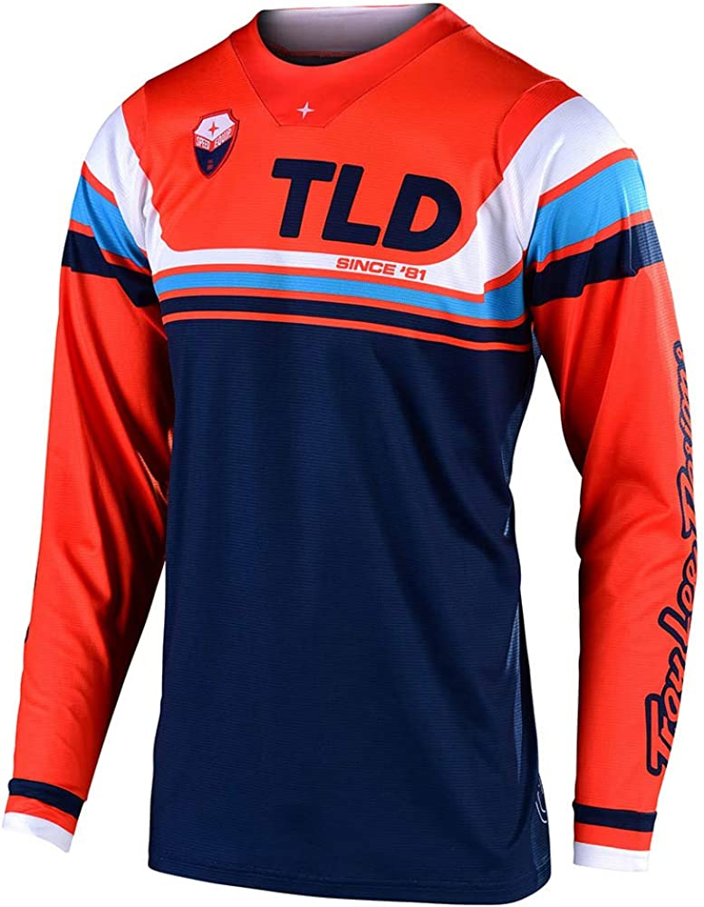 Troy Lee Designs Mens Offroad Motocross SE Seca Jersey Small, Dark Navy//Orange