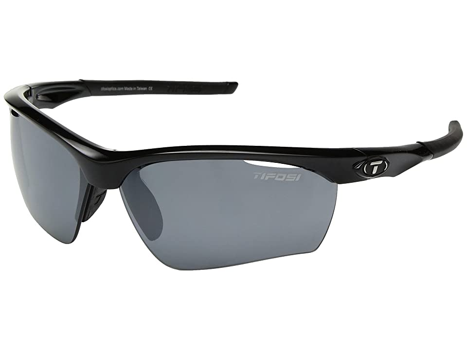 Tifosi Optics Vero (Gloss Black/Smoke/GT/EC Lens) Athletic Performance Sport Sunglasses