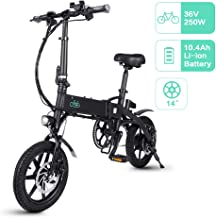 FIIDO D1 Bicicleta Eléctrica Urbana, 250W 7.8Ah/10.4Ah