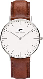 Daniel Wellington Classic St Mawes, Brown/Silver Watch, 36mm, Leather, for Women and Men