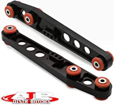 Ajp Distributors Rear Lower Control Arm Black With Red Polyurethane Bushings For Integra/Civic