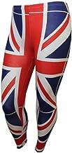 REAL LIFE FASHION LTD Womens Printed Stretchy Full Length Legging Ladies Casual Legging Plus Size 8-30
