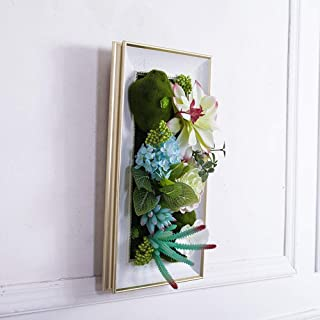 Unique design Artificial Flower Simulation Plant European Retro Hanging Wall Decoration Painting for Living Room Bed Room Decorate your home (Color : Blue, Size : One size)