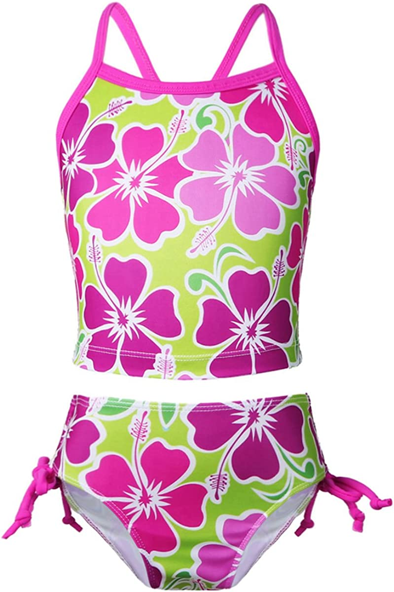 iEFiEL Kids Big Girls Youth 2 Piece Zebra Halter Tankini Swimwear Bathing Suit