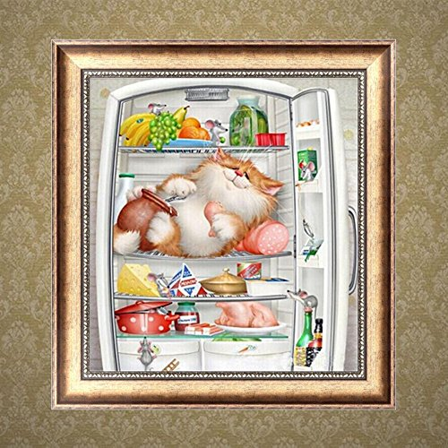 Arich Naughty Cat DIY 5D Diamond Painting Cross Stitch Resin Embroidery Craft Home Decor