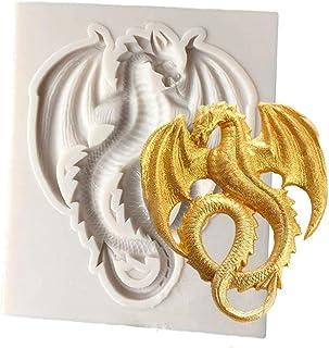 DUBENS Moule en silicone en forme de dragon volant, moule à savon, moule à gâteau, outil pour pâte à sucre, chocolat, moul...