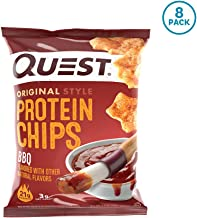 Quest Nutrition Bbq protein Chips, Low Carb, Gluten Free, Potato Free, Baked, Pack of 8