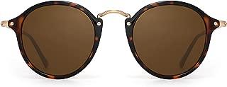 Retro Polarized Round Sunglasses Small Mirror Circle Lens for Men Women