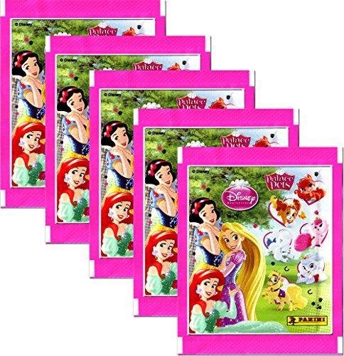 Panini - Disney Palace Pets - Sammelsticker 5 Booster Packungen 25 Sticker - Deutsche Ausgabe