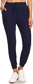 LA12ST Women's Soft Jogger Pants Drawstring Pockets