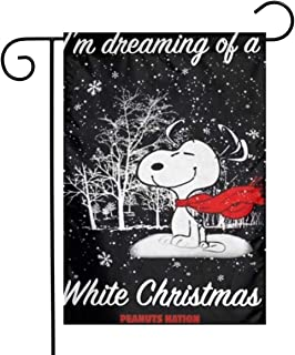 Criss Snoopy Merry Christmas Garden Flag Perfect Decor for Outdoor Yard Porch Patio Farmhouse Lawn, 12 X 18 Inch