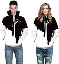 Tomsweet Autumnn Fashion Couple King Queen Hoodie Crown Lovers Long Sleeve Pullover Sweatshirts Tops with Pocket