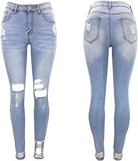 Pantaloni di jeans skinny a vita alta da donna