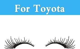 Chenghuaguo 1Pair Cute Car Styling Black Eyelashes Headlight Sticker for Toyota Aurion Avalon Venza Allex Allion Altezza Auris 4Runner