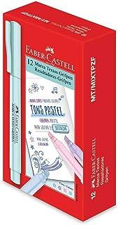 Caneta Marca Texto, Faber-Castell, Grifpen Tons Pastel, MT/MIXTPZF, 12 Unidades, 4 Cores