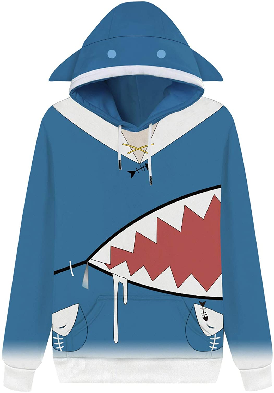 Hololive VTuber Gawr Gura Hoodies Cosplay Inugami Korone Pullover Hoodie Sweatshirt Long Sleeve Coat for Girl Boy