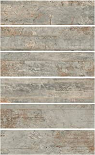 Sponsored Ad - 6x24 Country Ocean Porcelain Plank Wood-Look Field Tile Floor (Sold by Piece)