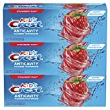 Crest Kid's Cavity Protection Fluoride Toothpaste, Strawberry Rush, 3...