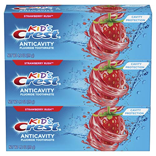 Price comparison product image Crest Kid's Cavity Protection Fluoride Toothpaste,  Strawberry Rush,  3 Count