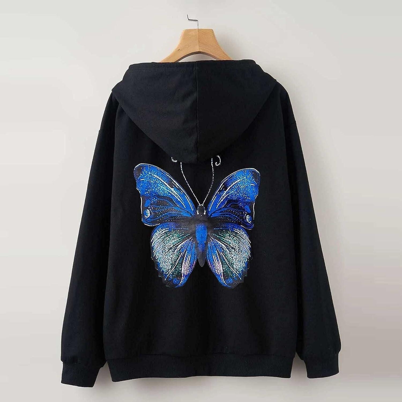 UOCUFY Hoodies for Women, Women Girls Cute Printed Long Sleeve Hoodie and Sweatshirts Casual Loose Pullover Tops