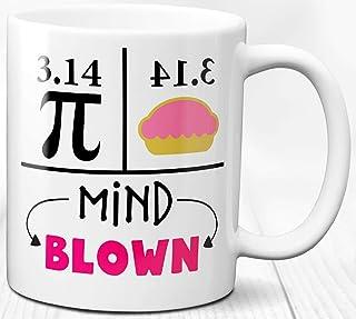 Taza de café con tema de matemáticas 330 ml Regalo divertido de la ecuación de Pi para humor matemático
