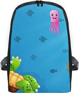 KVMV Vector Cartoon Turtle Octopus Underwater