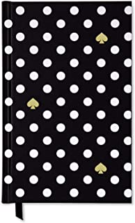 Kate Spade New York Black/White Ruled Writing Journal, Bound Notebook with 200 Lined Pages, Polka Dots
