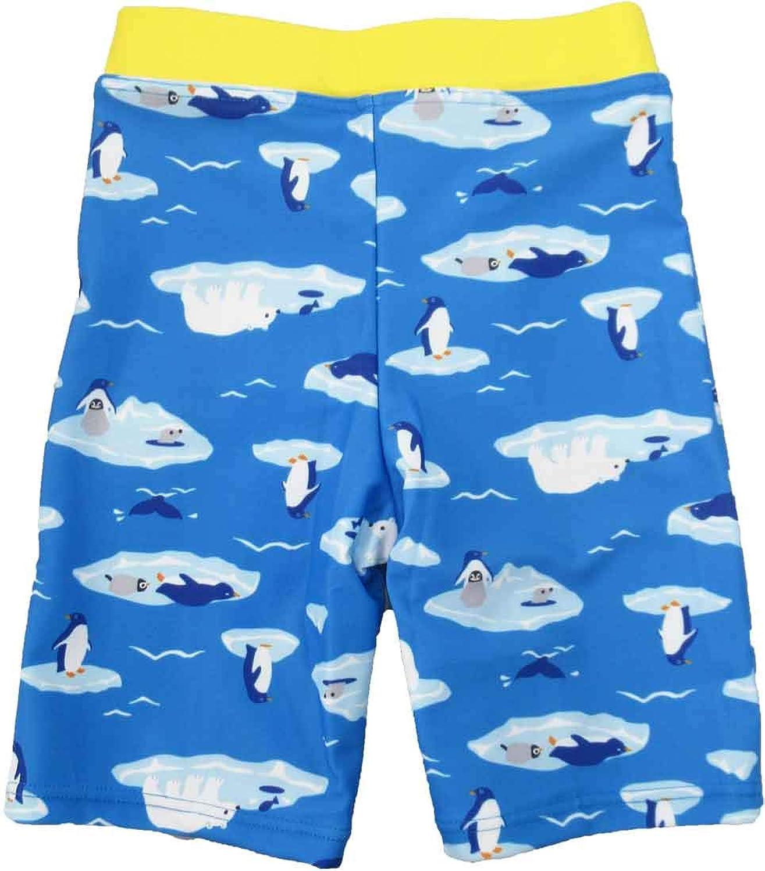 スイムパンツ 子供用 北極柄 紫外線カット UV CUT 男の子 水着 100cm~130cm 夏休み 海 プール 日焼け