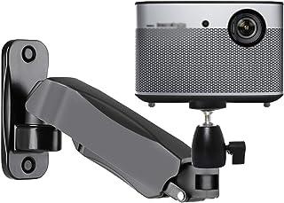 Projector Stand محكم جبل العارض، الارتفاع قابل للتعديل جبل ذراع واحدة، تدوير 360 درجة من مرنة، جدار العارض المنزلية جبل قو...